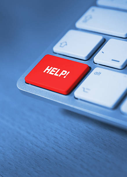 help keyboard key stock photo
