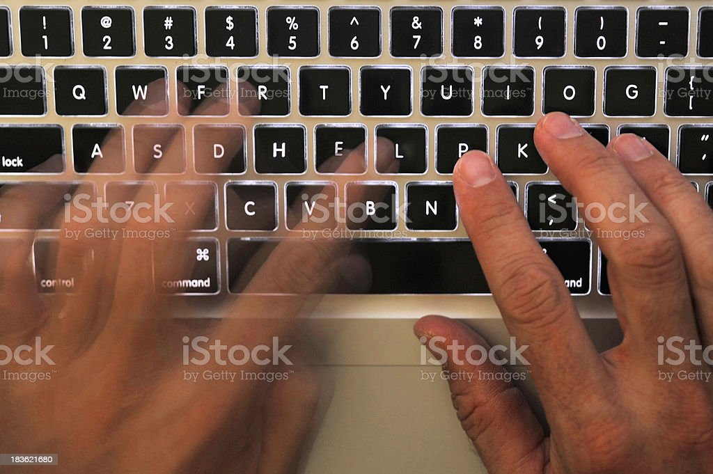 help keyboard over worked royalty-free stock photo