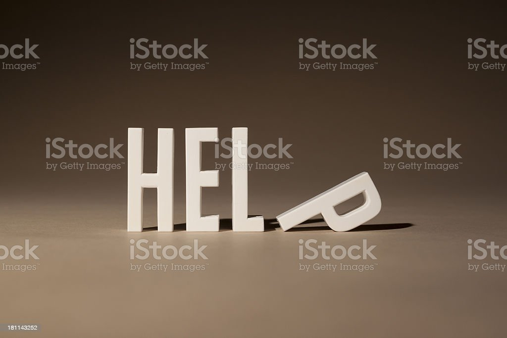 Help lettering royalty-free stock photo