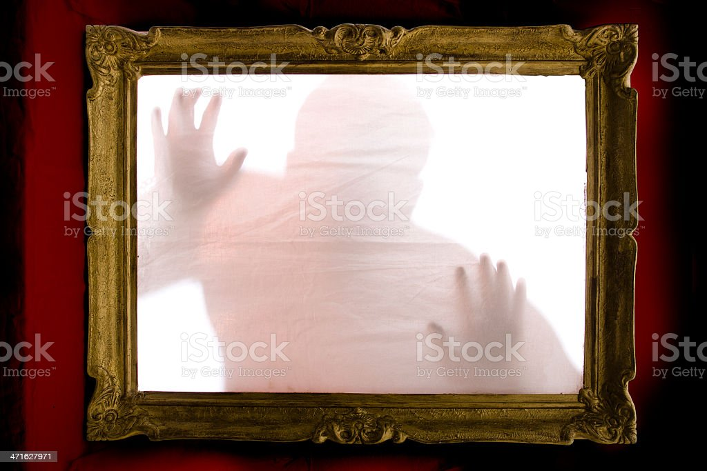 help me! - ghostly silhouette royalty-free stock photo