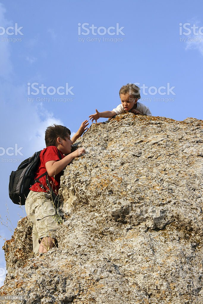 help of  brother royalty-free stock photo