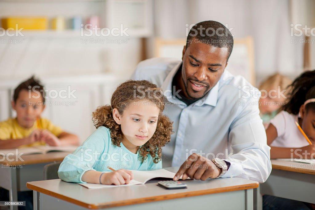 Help on Math Homework stock photo