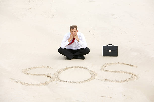 help - desert island stock photos and pictures