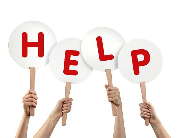 hilfe - sos einzelwort stock-fotos und bilder