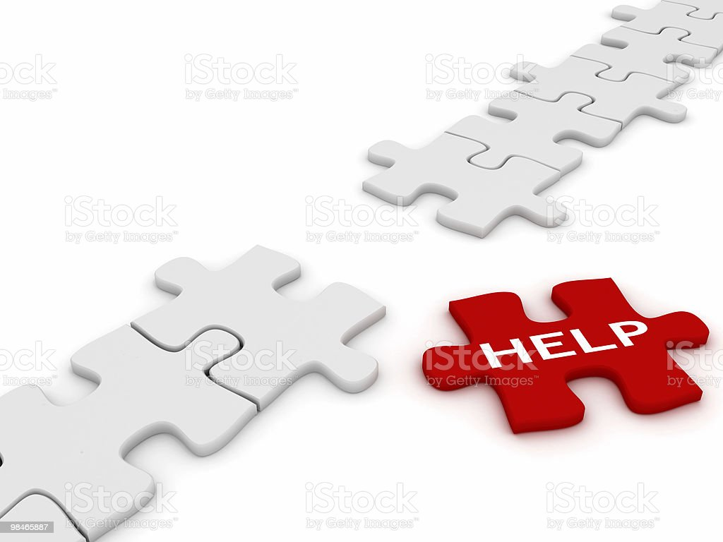 Help Puzzle royalty-free stock photo