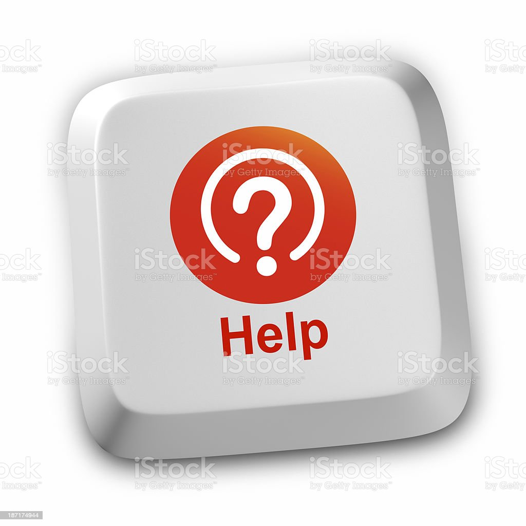 Help Question Mark Inquiries stock photo