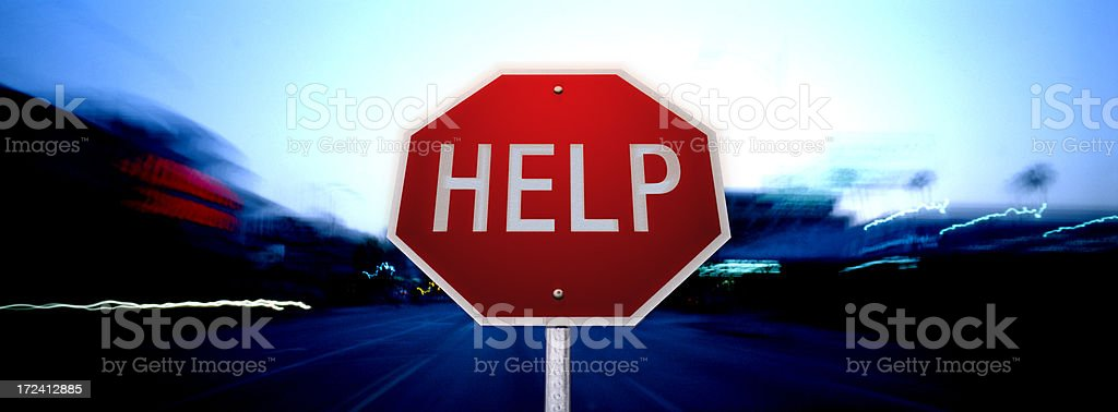 Help Sign royalty-free stock photo