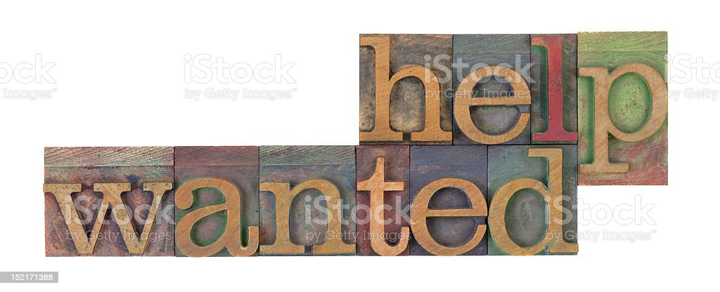 help wanted royalty-free stock photo