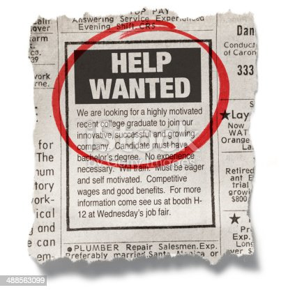 istock Help Wanted 488563099
