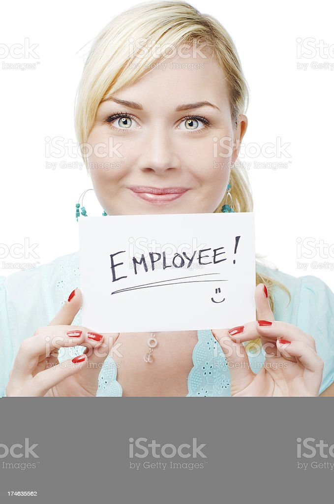 Help Wanted sign royalty-free stock photo