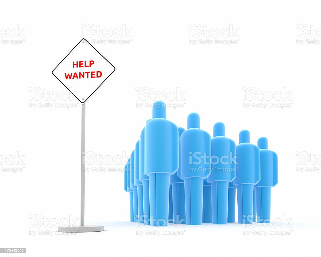 Help Wanted XL+ stock photo