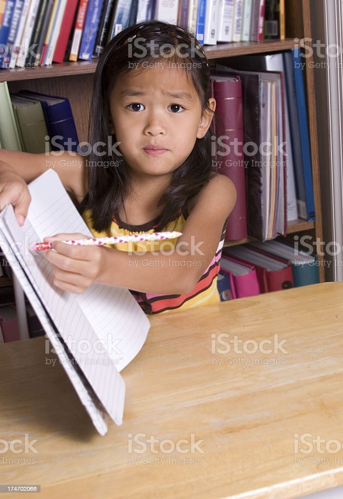 Help with homework (part of series) royalty-free stock photo