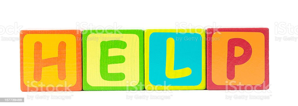help word letters royalty-free stock photo