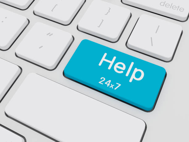 hilfe auf tastatur geschrieben - tastatur bilder stock-fotos und bilder