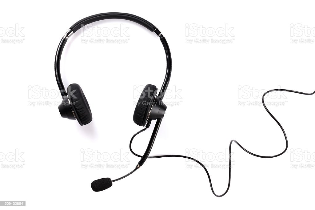 Helpdesk headset stock photo