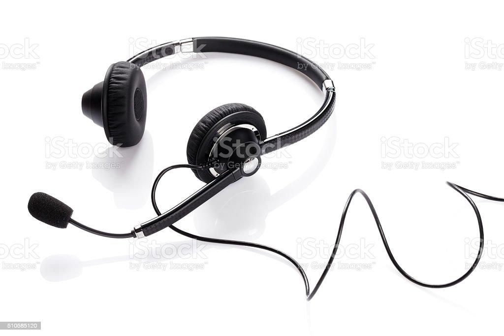 Helpdesk headset stock photo