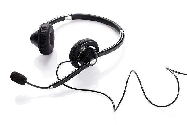 Helpdesk headset Helpdesk headset. Isolated on white background hands free device stock pictures, royalty-free photos & images
