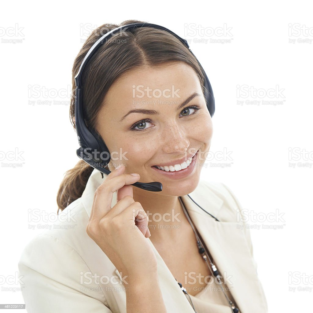 Helpful and friendly customer service stock photo