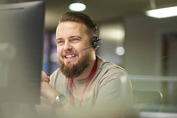 helpful customer service stock photo