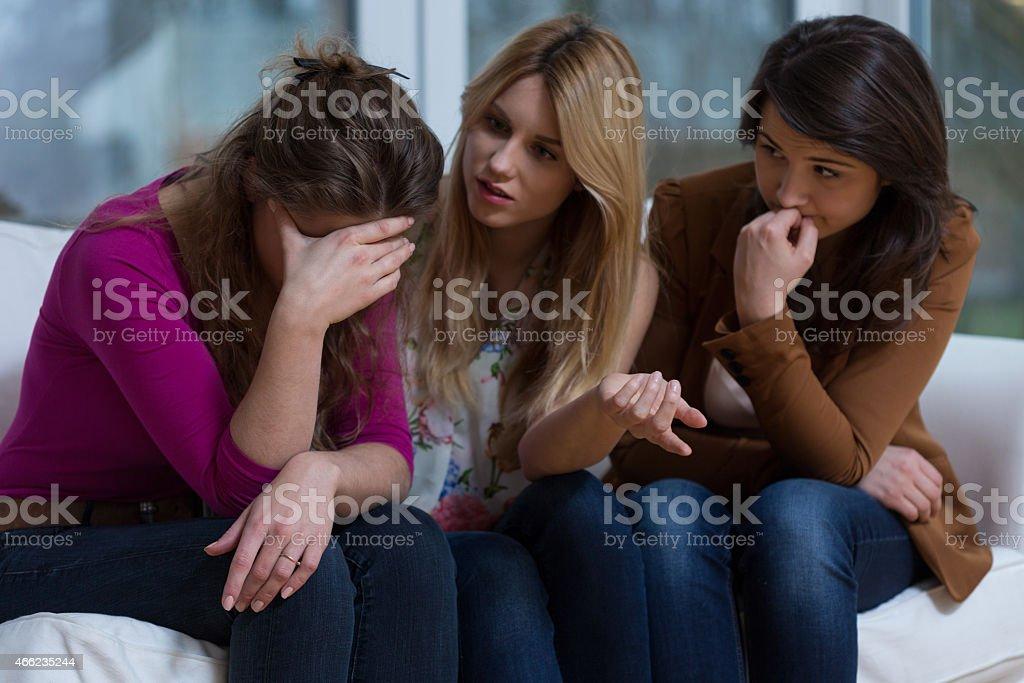 Helpful girls stock photo