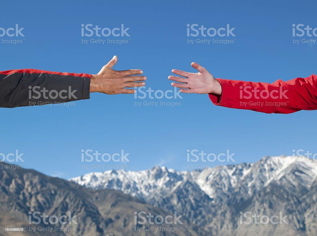Helpful Hand royalty-free stock photo