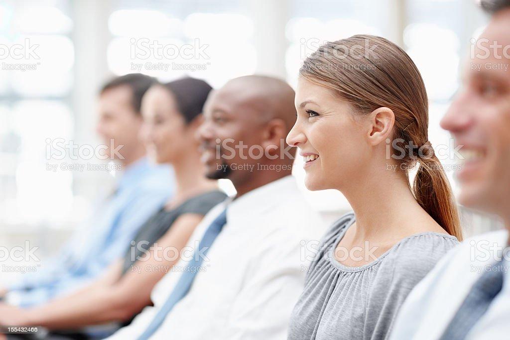 Helpful meetings - Business people stock photo