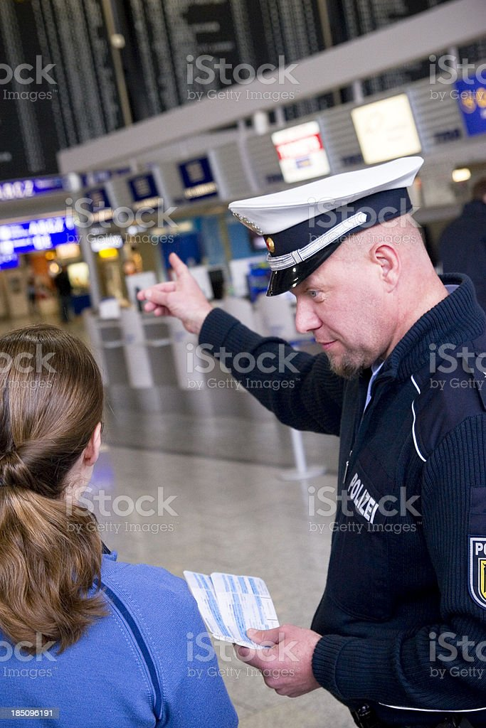 Helpful Policeman royalty-free stock photo