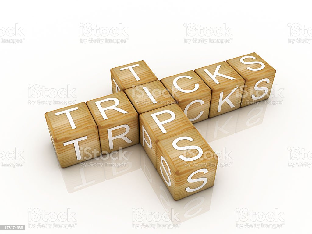 helpful tips and tricks symbol royalty-free stock photo