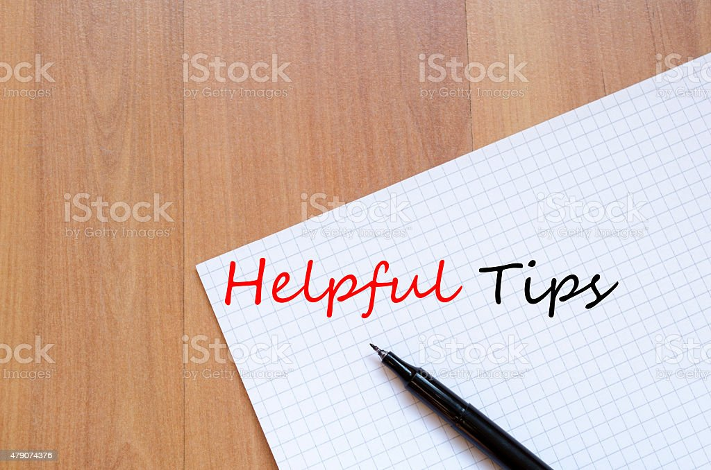 Helpful Tips Concept stock photo