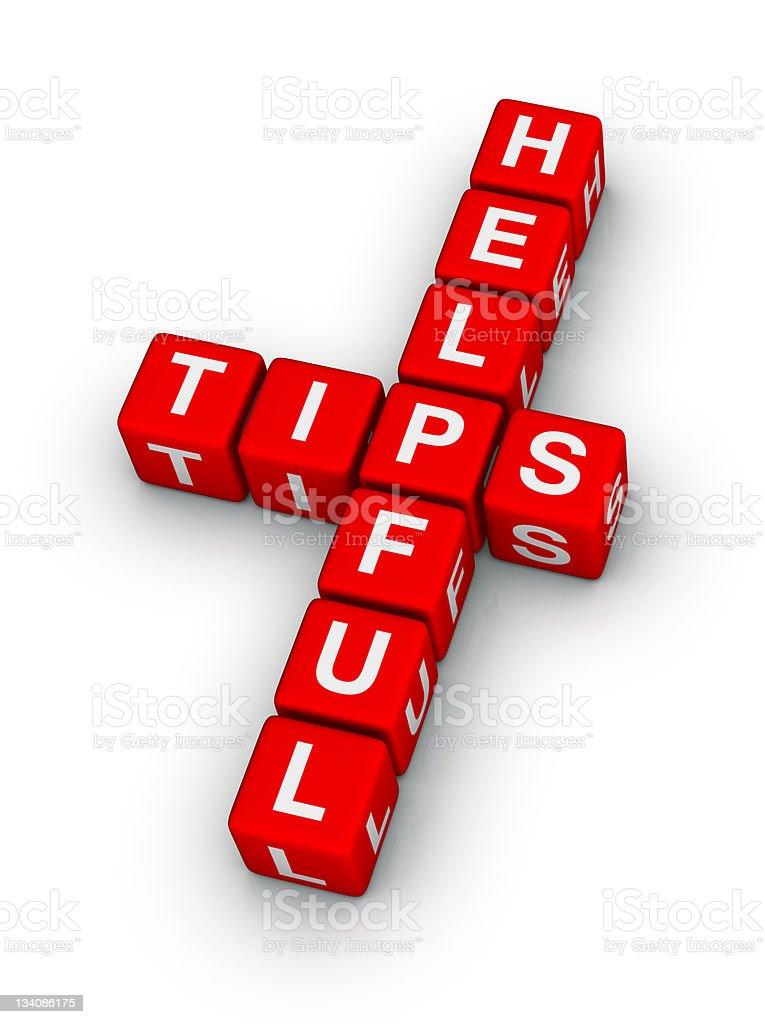 helpful tips royalty-free stock photo