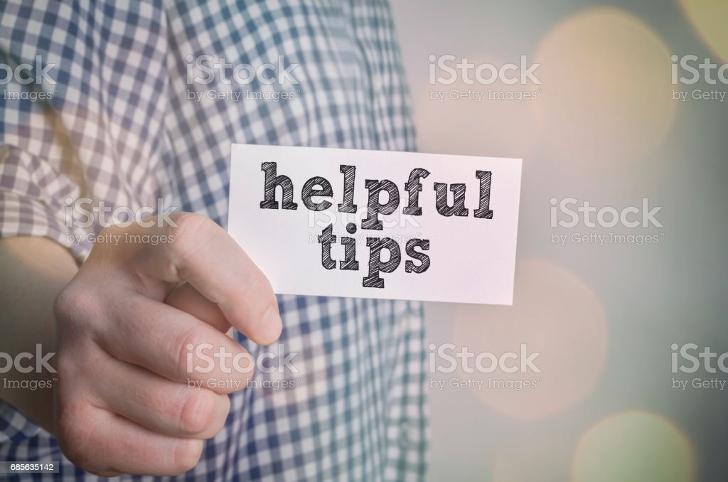 Helpful tips royalty-free 스톡 사진