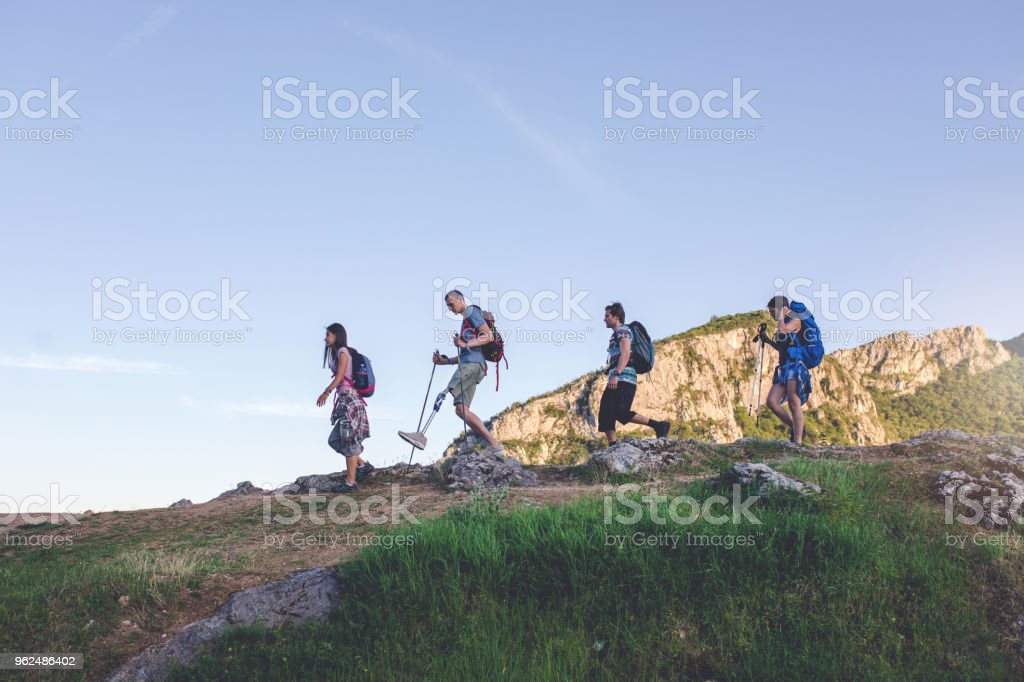 Helping a friend to see the world stock photo