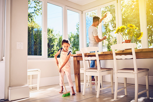 istock Helping Dad with some spring cleaning around the house 888755362