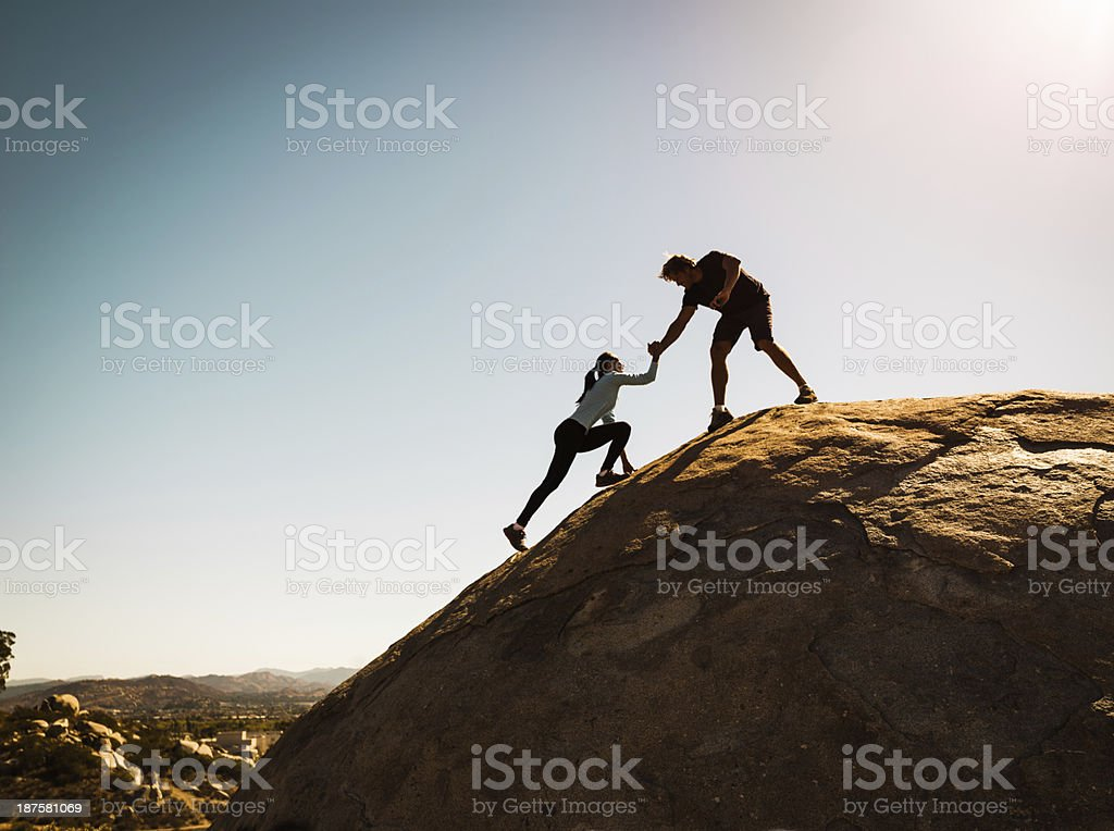 Helping Friends stock photo