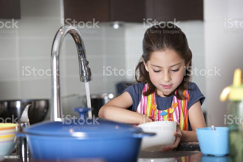 Helping girl stock photo