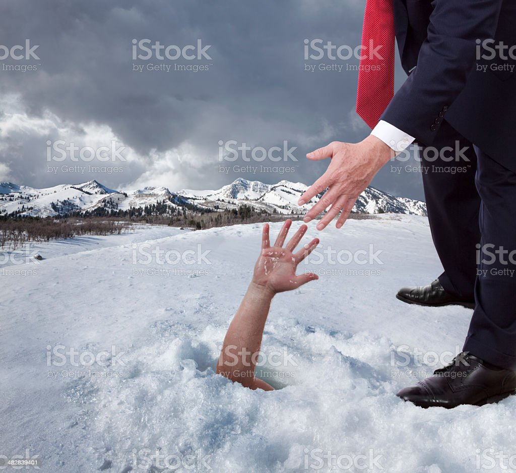 Helping Hand For The Helpless stock photo
