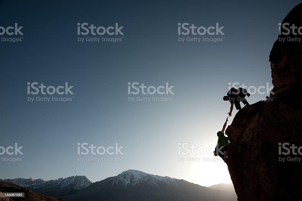 helping hand - Royalty-free Adventure Stock Photo
