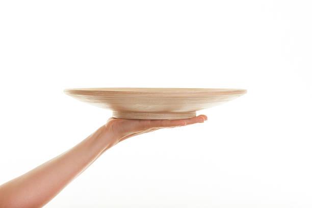 helfende hand. - tablett holz stock-fotos und bilder