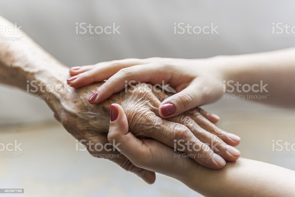 Old Hands Holding