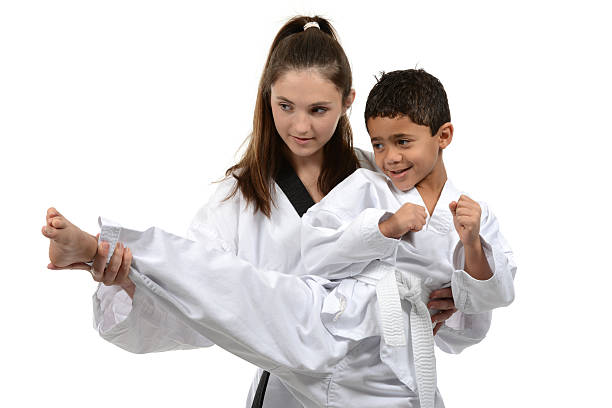helping hand - martial arts gerville stock pictures, royalty-free photos & images