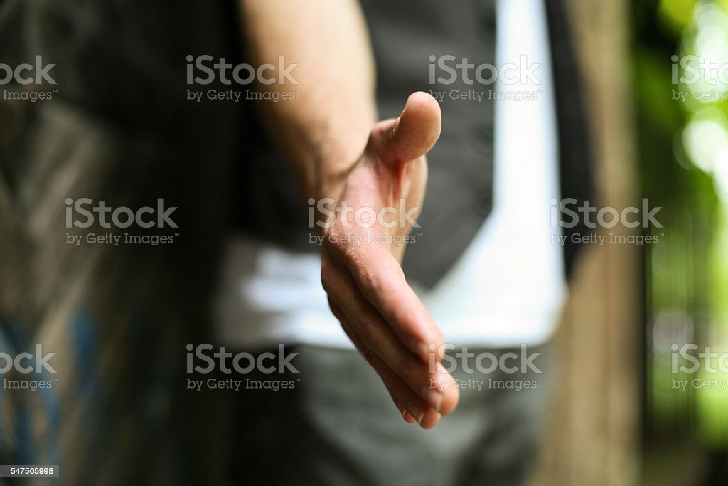 Helping hand. stock photo