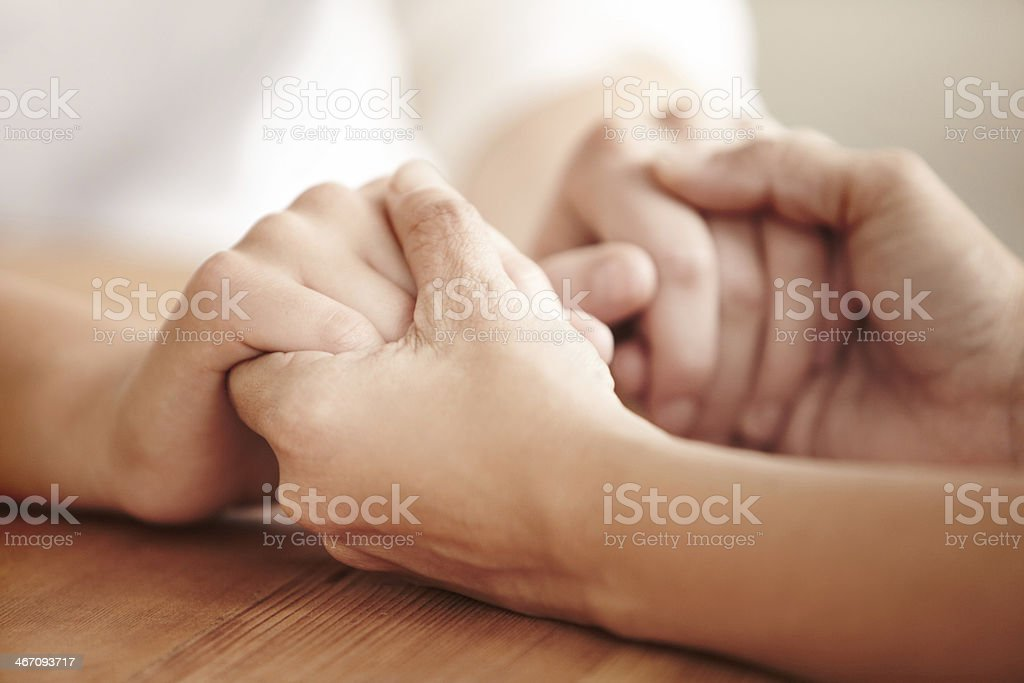 Helping hands are never far away... stock photo