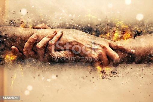 istock Helping hands. 818328942