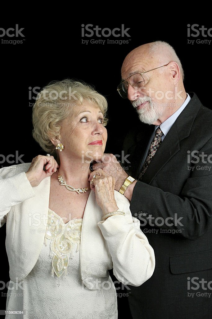 Helping Her Get Ready royalty-free stock photo