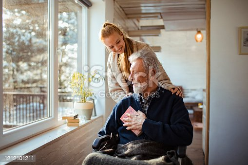 istock Helping her Old Man 1212101211