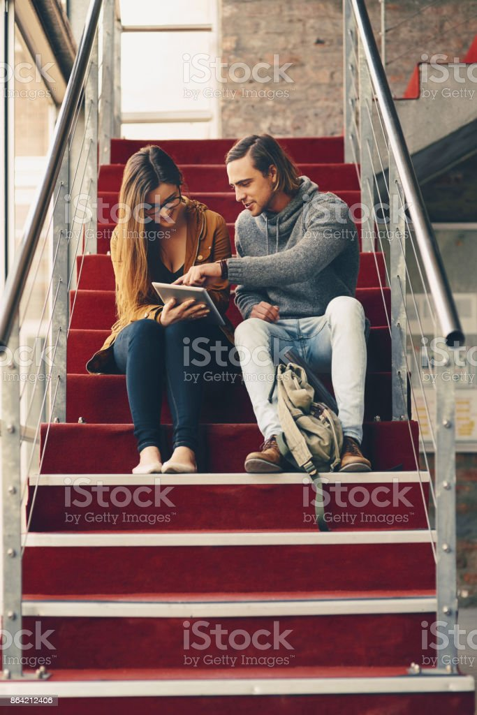Helping her with her studies royalty-free stock photo