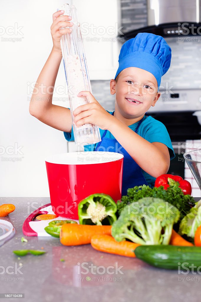 Helping in the kitchen royalty-free stock photo