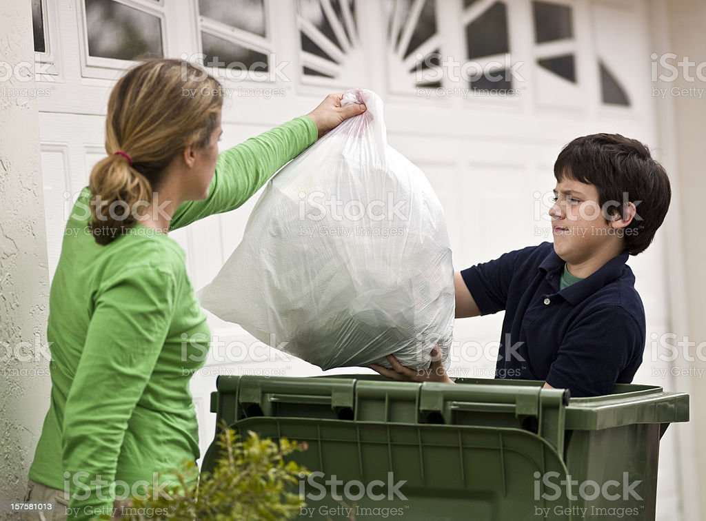 Helping mom stock photo