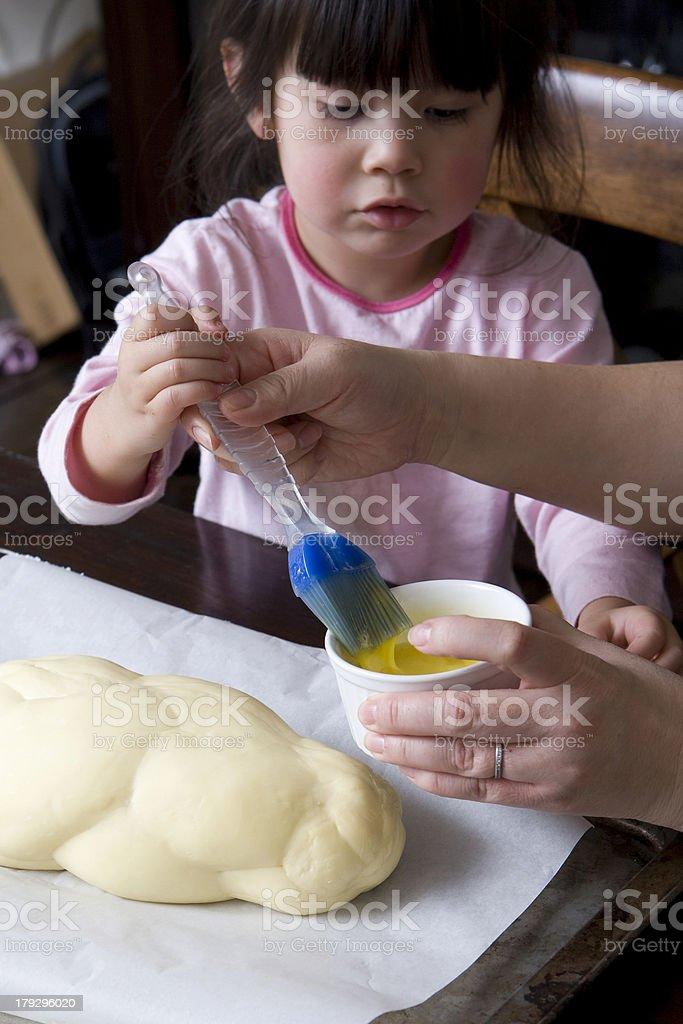 Helping Mom stock photo