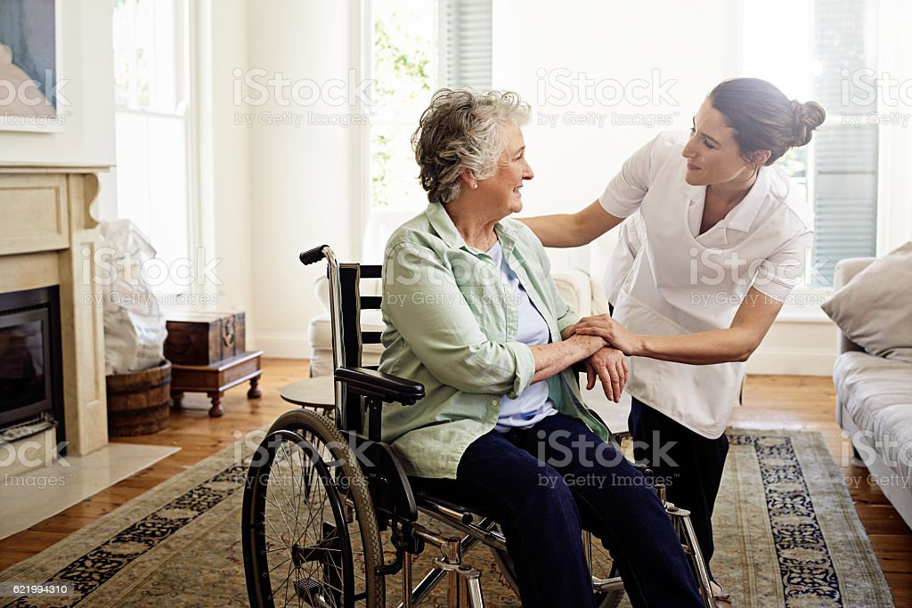 Helping others is a calling stock photo
